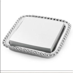 Mariposa Silver Beaded Jewelry Tray